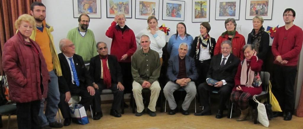 2014 Teilnehmer Gruppenfoto Gebetetunde der Religionen RfP Berlin AKR St.Georges anglikanische Gemeinschaft Kirche